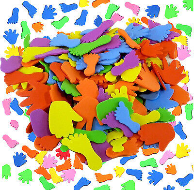 Pack of 150 Foam Hands And Feet Shapes Kids Craft Work Assorted Arts Toys