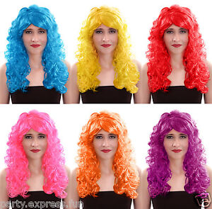 Womens-Ladies-Sexy-Long-Curly-Party-Fancy-Dress-Costume-Full-Wigs