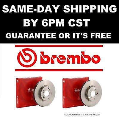 BREMBO Rear Brake Disc Rotors Set Pair Set 1995 1996 1997 1998 1999 BMW M3 25584 (Brembo Rear Brake Disc)