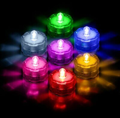 Wedding Tea Lights (LED Submersible Waterproof Wedding Holiday Decoration Party Tea Lights 3 6 12)