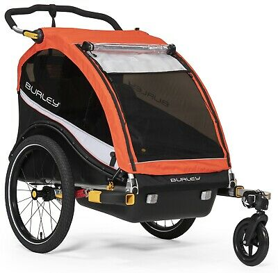 Burley Cub X Heavy-Duty Kids Bike Bicycle Trailer & Double Stroller Atomic Red