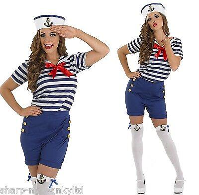 Damen Sexy Sassy Matrose Uniform Kostüm Outfit UK - Matrosen Outfit Damen