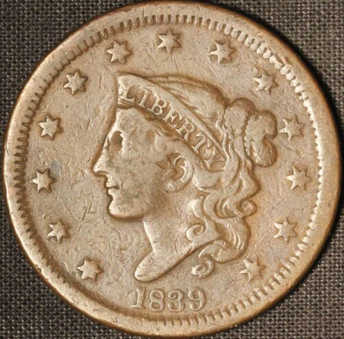 1839 Matron Head Large Cent - Free Shipping USA