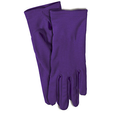 Gloves Adult Purple Pretend Dress Up Theatrical Costume 1 - Paired Up Halloween Costumes