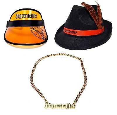 Jägermeister Party Set - Visor Kappe  + Goldkette + Hut