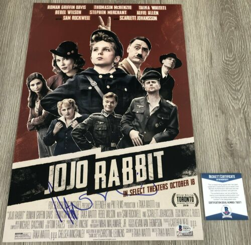 TAIKA WAITITI SIGNED AUTOGRAPH JOJO RABBIT 12x18 PHOTO POSTER w/ BECKETT BAS COA