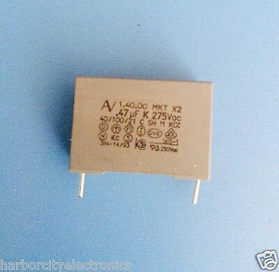 R40474k275bns Nissei Arcotronics Capacitor 0.47uf 275v Radial Mkt-.4727510
