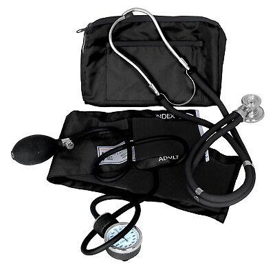 Dixie Ems Professional Blood Pressure Kit W Sprague Stethoscope Black