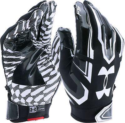 Under Armour Ua F5 Football Gloves Youth Medium Pair Black Wr Rb Skill Flag Set