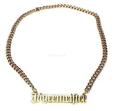 Jägermeister Goldkette Halskette aus Metall (kein echtes Gold) kette bar reklame