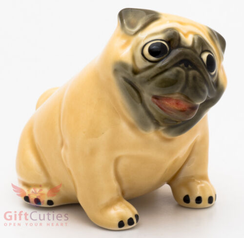 Porcelain Figurine of the Pug dog