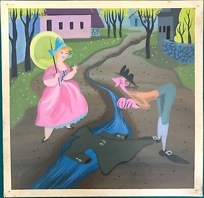 Mary Blair The Adventures of Ichabod & Mr Toad Ichabod-Katrina Concept Painting