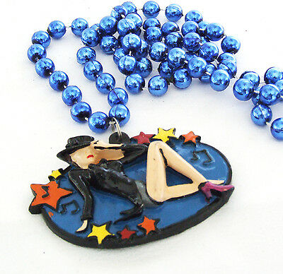 CABARET Dance Theatre Mardi Gras Bead Necklace Musical Broadway Beads - Halloween Musical Theatre