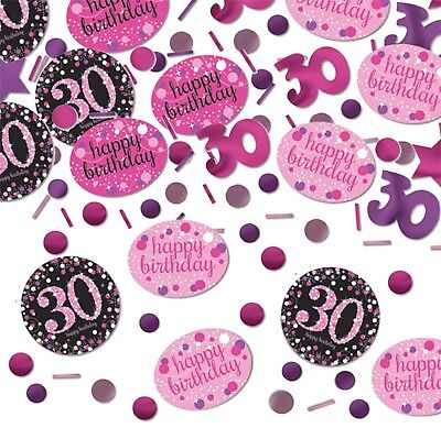 Ladies 30th Birthday Celebration Sparkle Table Confetti Decoration Pink Purple - Purple 30th Birthday Decorations