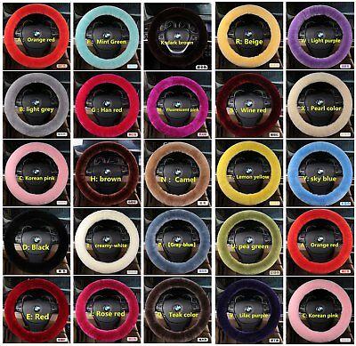 (100% Sheepskin Australian Wool Steering wheel cover winter warm Superior Quality)