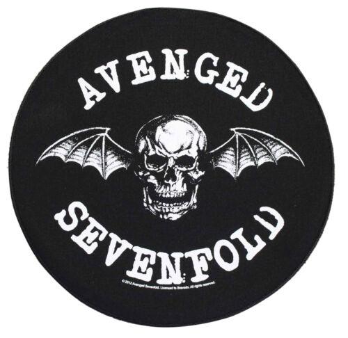 Large Avenged Sevenfold Death Bat Round Woven Sew On Battle Jacket Back Patch