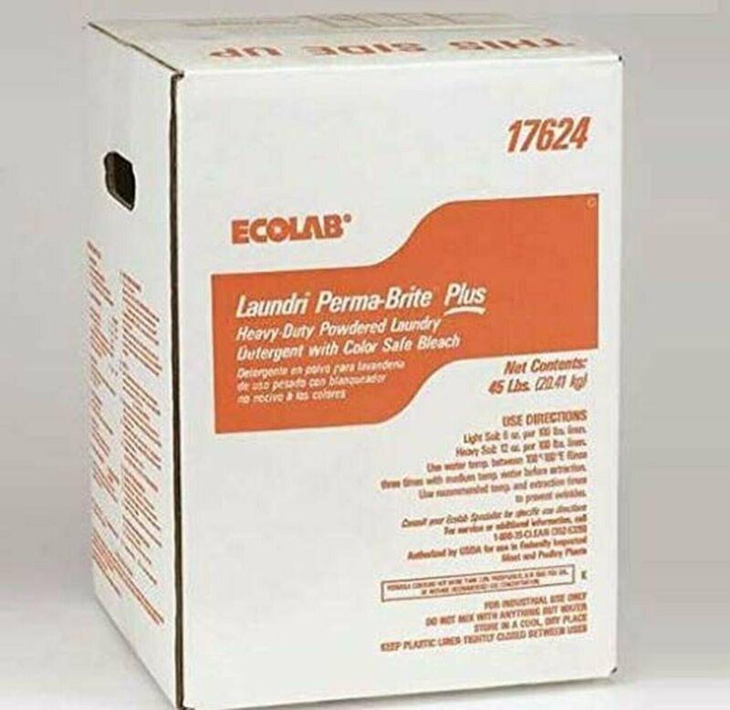 ECOLAB 6110391 Laundri Perma Brite Plus 45lbs - Heavy Duty Powdered Detergent...