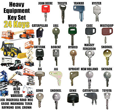Heavy Equipment Construction Machines Master Ignition  Key Set 24 Keys