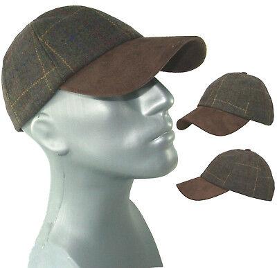 HERREN Winter Classic BASECAP BASEBALLCAP Cap Caps Kappe Karo OLIVE/BRAUN
