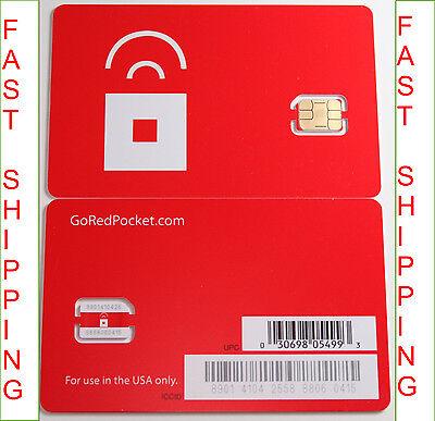 Apple iPhone 5s NANO SIM red pocket NANO sim card