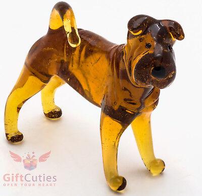 Art Blown Glass Figurine of the Shar Pei dog (Shar Pei Dog Figurine)