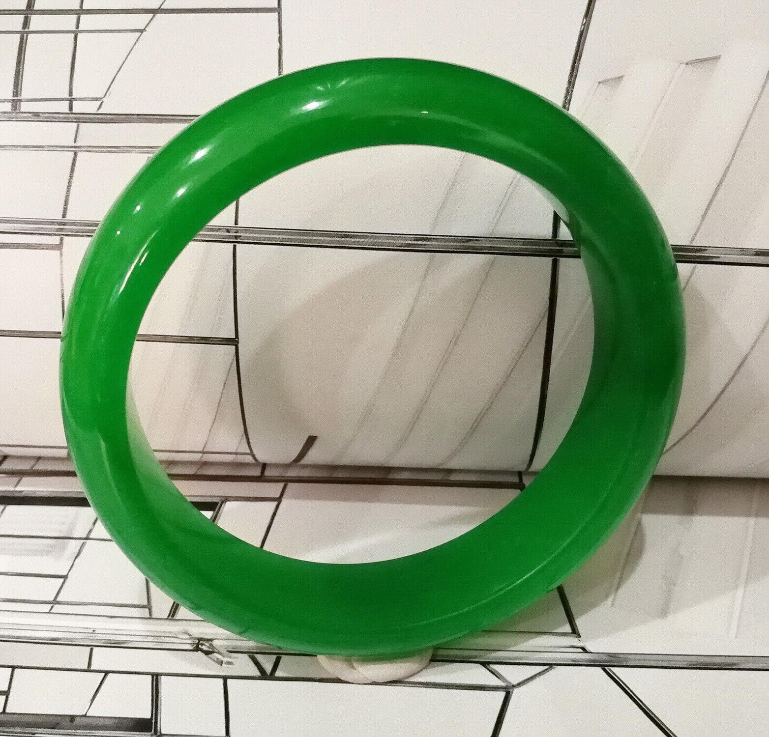 100/% Natural  green jade bangle 61mm*10mm