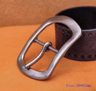 Center Bar Jean Belt (Casual Mens Retro Silver Plated Huge Center Bar Jeans Belt Buckle Fit 40mm)
