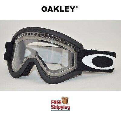 OAKLEY® E FRAME® SNOW GOGGLES DUAL LENS SNOWBOARD SKI MATTE BLACK CLEAR LENS NEW