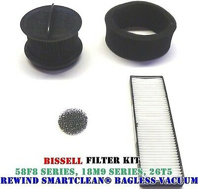 Bissell Rewind Smart Clean/ Power Clean/ Power Helix Filter Replacement Kit. ...