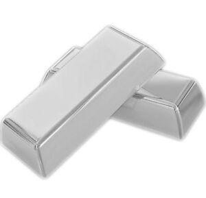 1x Pure Solid 999/1000 Silver Bullion Investment Ingot Bar 1 Grain (Not Gram)