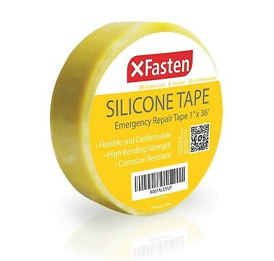 Xfasten Silicone Self Fusing Tape 1-inch X 36-foot Yellow Silicone Repair Tape
