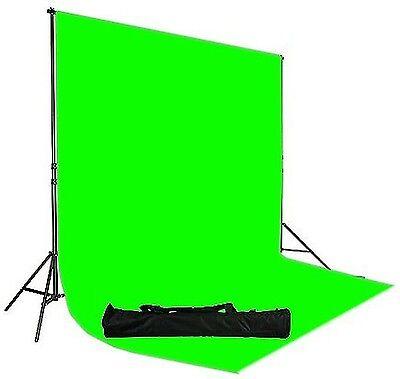 Fancier UL30 Chromakey Green Screen Muslin Backdrop Support System Kit, 10x12 ft Chroma Key Background Support