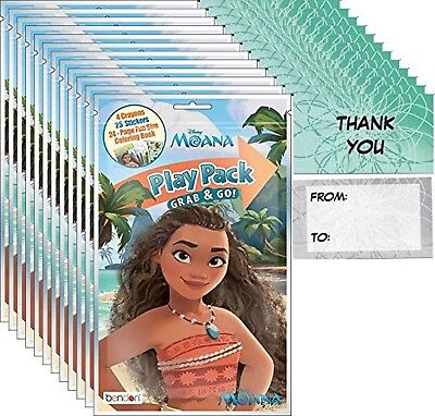 Disney Moana Grab and Go Play Packs Bundle (12 Packs) Party Favors and 12 - Play Pack Grab And Go
