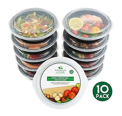 [10 pack] Round BPA Free Meal Prep Containers with lids. (680 mL)
