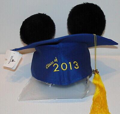 Disney Parks Graduation 2013 Mickey Mouse Mortarboard Ears NEW  - Disney Graduation Ears