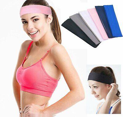 Women Men Sport Sweat Sweatband Headband Yoga Gym Hairband Clothing, Shoes & Accessories