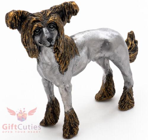 Tin Pewter Figurine of Chinese Crested Dog IronWork