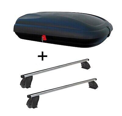 Dachbox VDPBA320L carbonlook+Dachträger K1P Alu für Mercedes CLS C218 4Tür 04-10