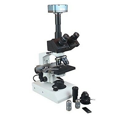 Radical Trinocular Microscope W Blood Semen Water Phase Contrast And 1.3mpix ...