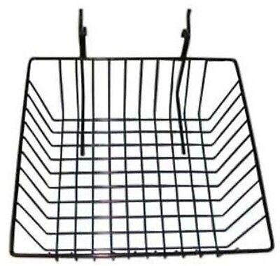 Slatwallgridwall Basket 12 Long X 12 Deep X 4 High Black