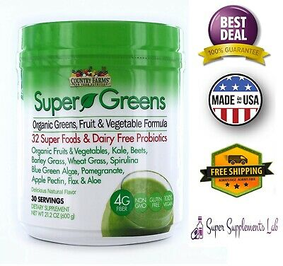 Superfood Smoothie (ORGANIC GREENS SUPERFOOD POWDER 21 Oz Smoothie Drink Mix Natural Flavor 30)