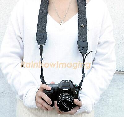 Vintage Black Weave Camera Shoulder Neck Strap Belt Nikon D7200 D7100 D750