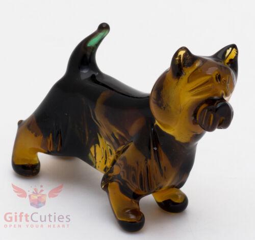 Art Blown Glass Figurine of the Australian Terrier dog