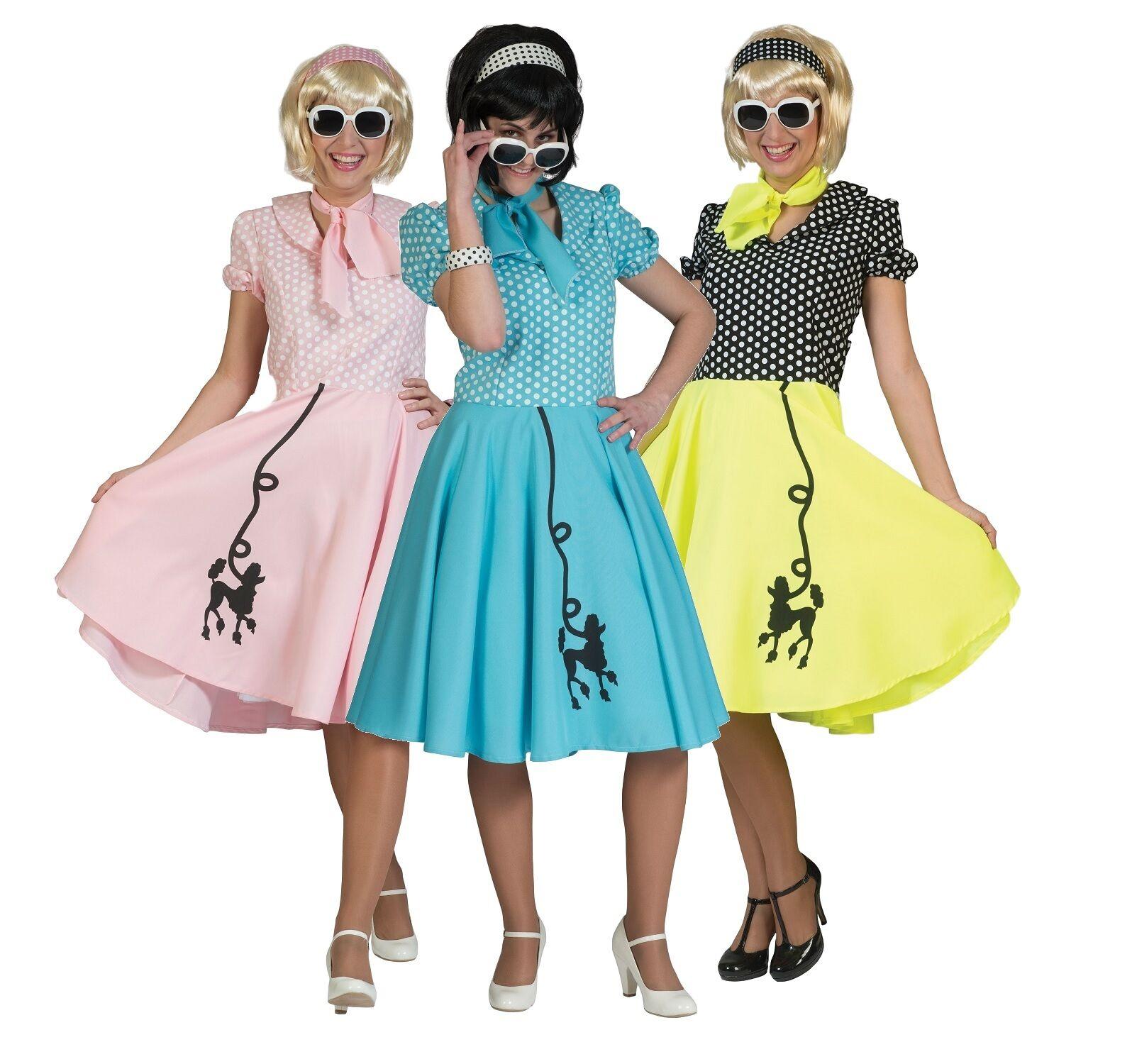 Ladies 1950s 50s Poodle Polka Dot Dress Scarf Hen Do Fancy Dress ...
