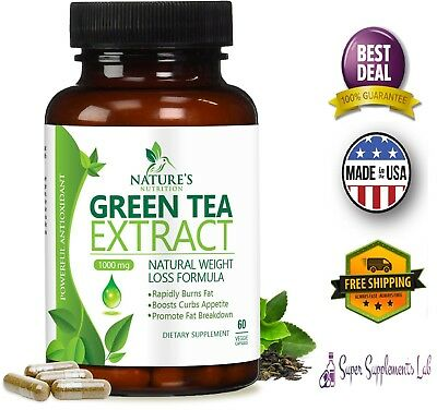 EGCG GREEN TEA EXTRACT Capsules 1000mg Natural Fat Burner Pills Weight Loss