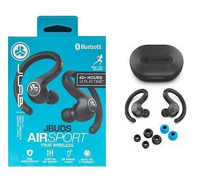 JLab JBuds Air Sport Bluetooth True Wireless In-Ear Headphones - Black