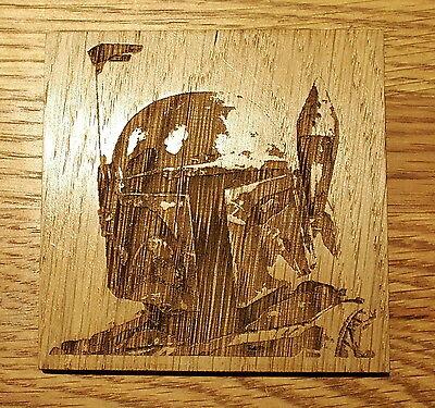 Star Wars Wooden Coaster Boba Fett Bounty Hunter Birthday Gift Geek - Boba Fett Birthday