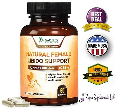 FEMALE LIBIDO SUPPLEMENT PILLS w Maca 1000 mg Energy Support Vitamins for Women