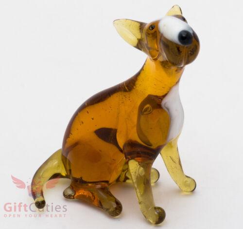 Art Blown Glass Figurine of the Bull Terrier dog