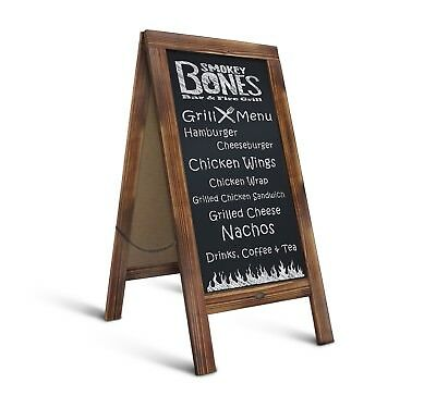 """Rustic Magnetic A-Frame Chalkboard Sign / Extra Large 40"""" x 20"""" Free Standing"""